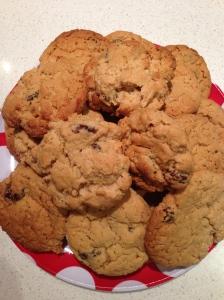 Malted Oat, Coconut & Raisin Cookies