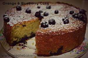Orange & Blueberry Cake