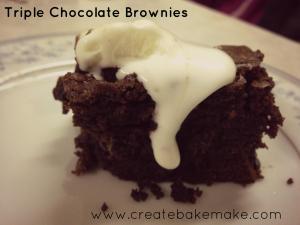 Triple Chocolate Brownies 1