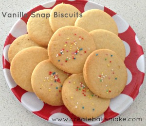 vanilla snap biscuits