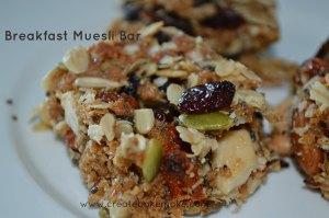 breakfast muesli bar