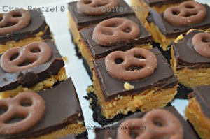 Choc Pretzel & Peanut Butter Slice