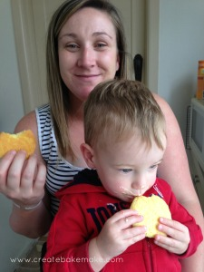 Tiff and Liam enjoyed the biscuits