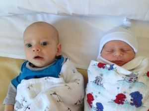 Our two baby boys - just 18 weeks apart x