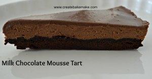 milk chocolate mousse tart