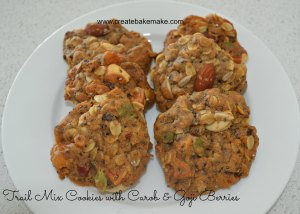 Trail Mix Cookies with Carob & Goji Berries