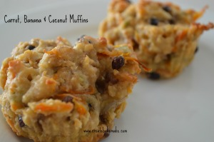 Carrot Banana & Coconut Muffins