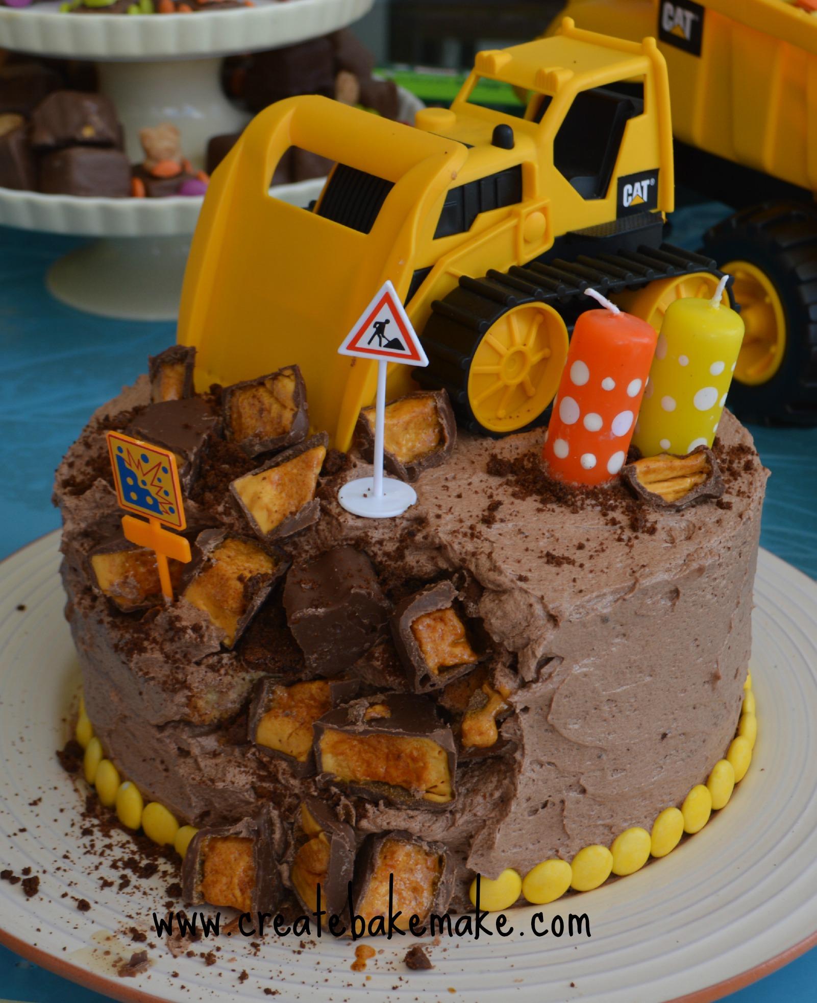 Our Big Boys Construction Party createbakemake